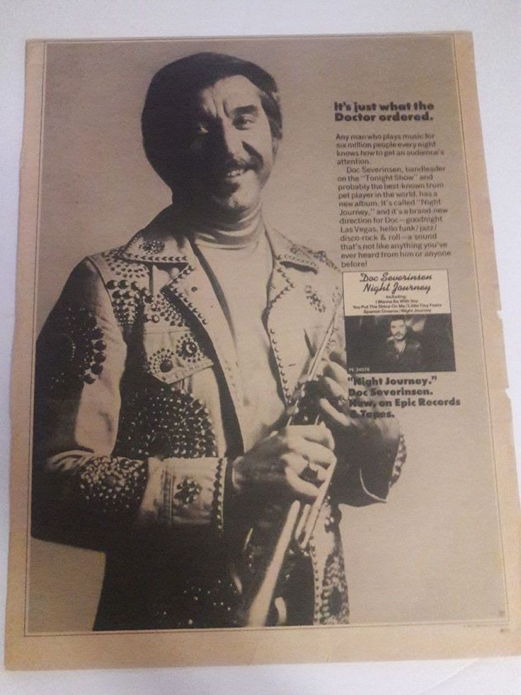 Doc Severinsen Music Ad Night Journey Doctor Orders Full Page Black White