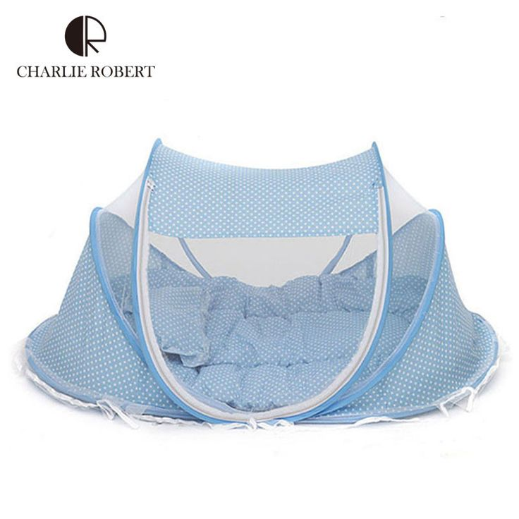 New Baby Crib 0-3 Years Baby Bed With Pillow Mat Set Portable Foldable Crib With Netting Newborn Cotton Sleep Travel Bed HK357