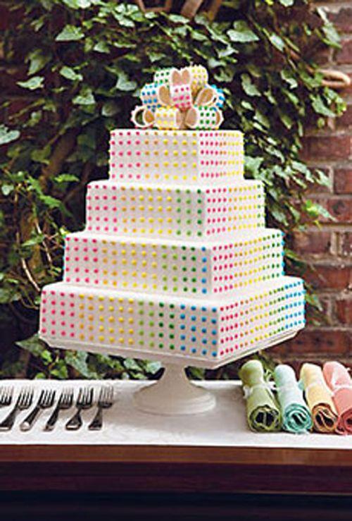 torta-nozze-arcobaleno-pois