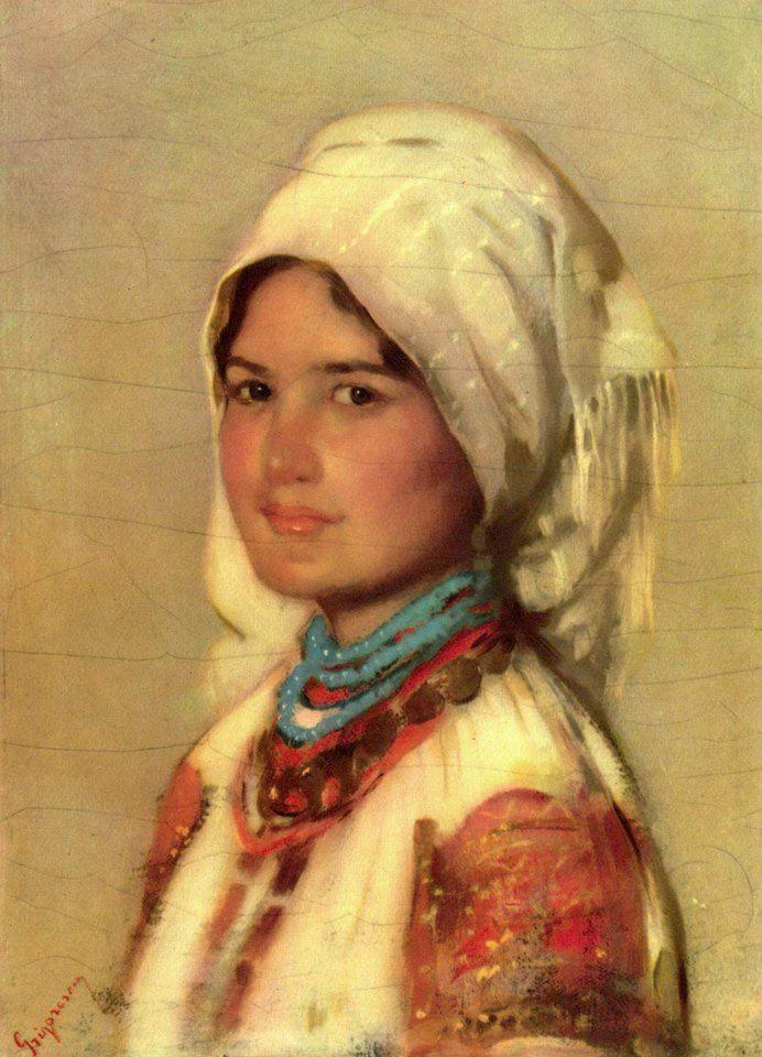 """Romanian painter Nicolae Grigorescu - """"Țărancă din Muscel"""" / """"Peasant Woman from Muscel"""" (1874)"""