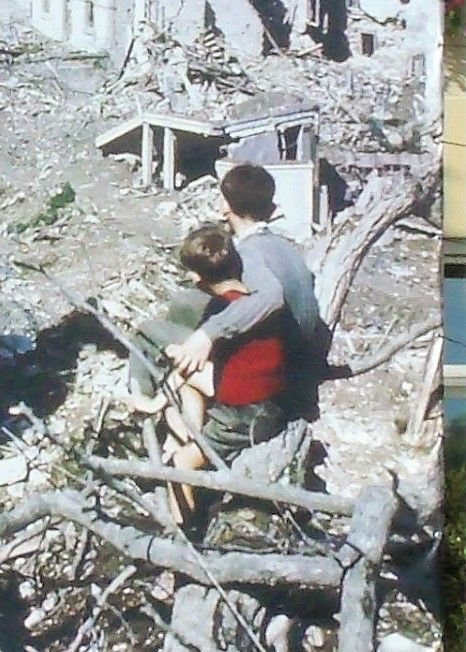Two sides of 1944 Saint-Lo - the boy in red & the Major of Saint-Lô http://www.normandythenandnow.com/a-red-jumper-the-major-of-saint-lo-two-sides-of-1944/