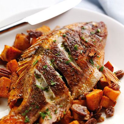 Cajun roasted tilapia recipe with sweet potatoes | Red Online