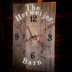 Reclaimed barnwood wall clock  custom barn wood clock  large unique rustic wall clock by TheRusticPalette on Etsy https://www.etsy.com/listing/252901799/reclaimed-barnwood-wall-clock-custom