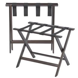 Luggage rack container store and the container on pinterest for Folding luggage racks bedroom
