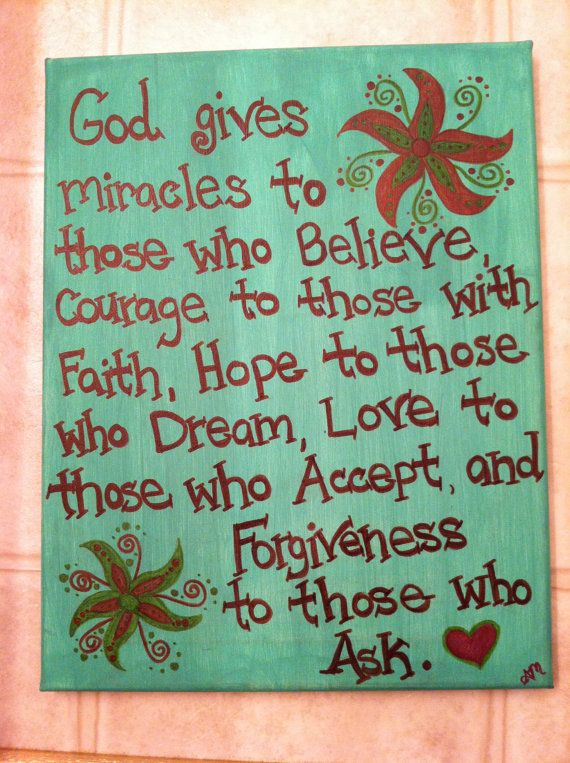 Christian Faith Quote Canvas Painting Made by AnnaCarolinesCrafts, $10.00