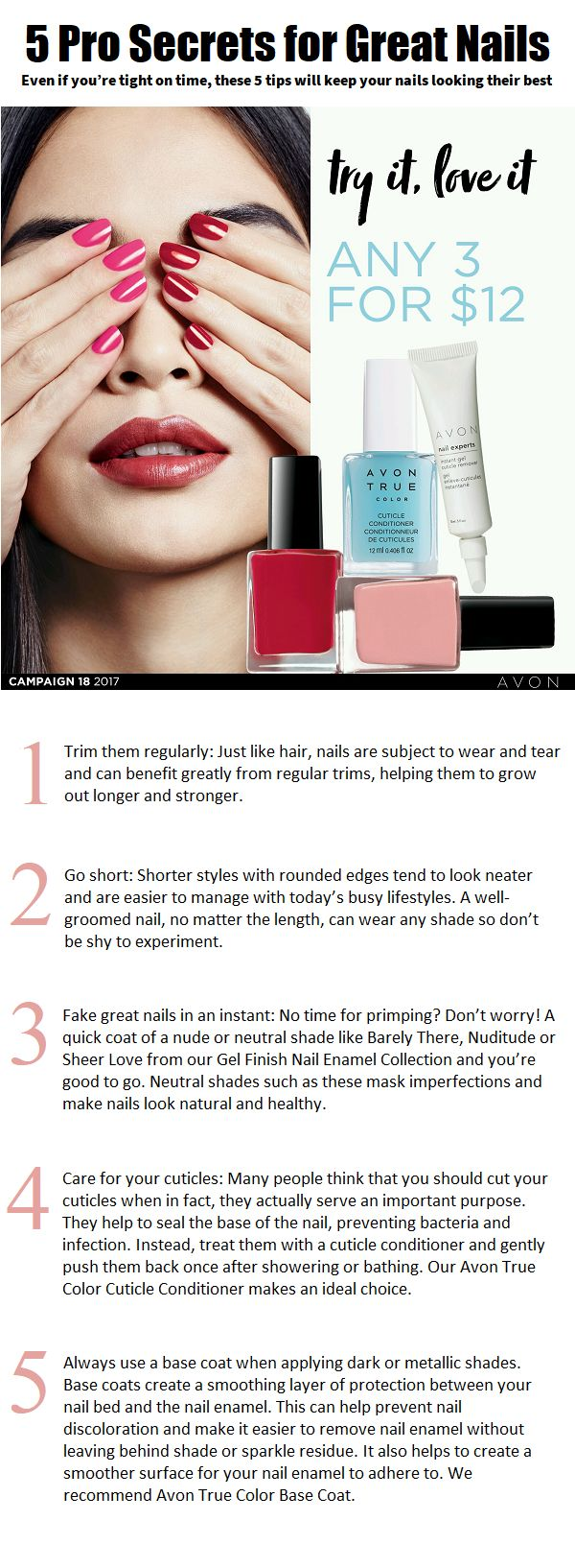 And… don't miss the Nail Event in our C18 Brochure to save big on a wide selection of shades and nail essentials. rosemarieclark.avonrep@gmail.com Serving Saint John N.B and surrounding areas.