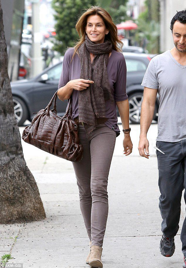 Mature Casual  47 Year Old Cindy Crawford