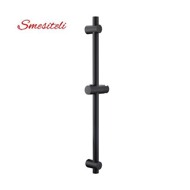 Smesiteli Matte Black Finish Stainless Steel & ABS Plastic Sliding Shower Bar & Shower Head Holder