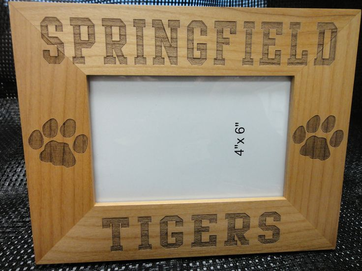 Wooden 4 x 6 Tiger etched picture frames 16.99 Picture