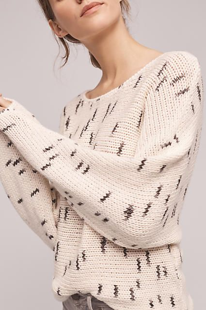 Ponga Spotted Pullover - anthropologie.com