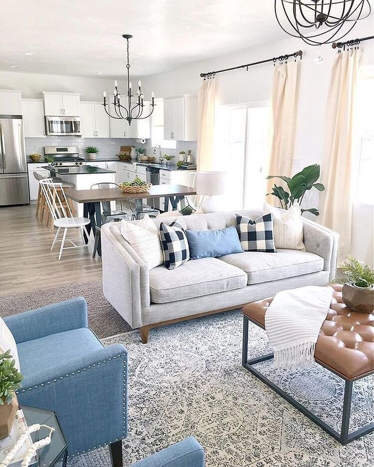 All of the neutral goodness. Thanks for sharing your beautiful, open floor plan filled with our favorite Joss finds, @designlovesdetail. {Link in profile to shop} #jossfind #openconcept #livingroom #josskitchencrush