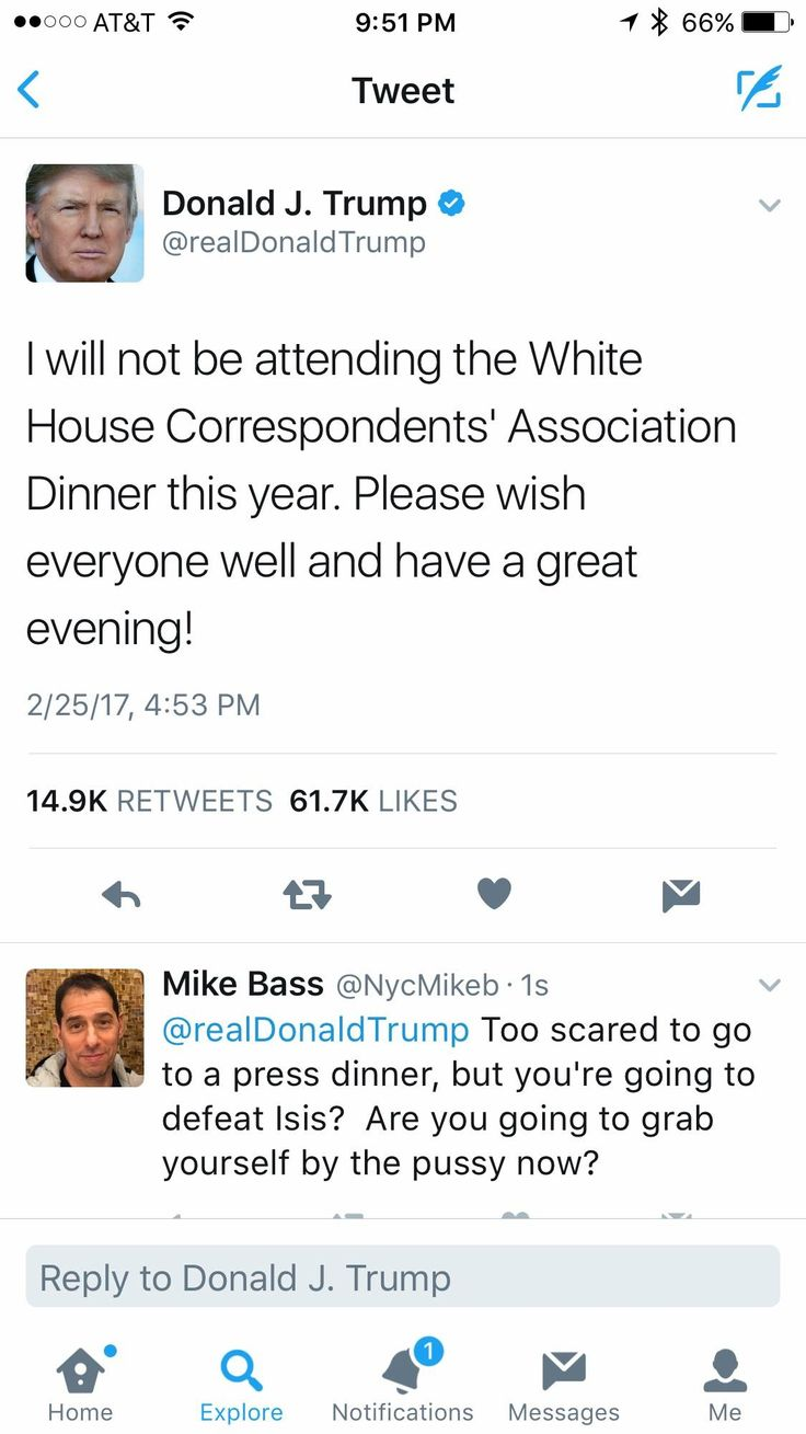 Scared to have journalists to DINNER...but oh, he's tough. Grab your own, Trumpet.