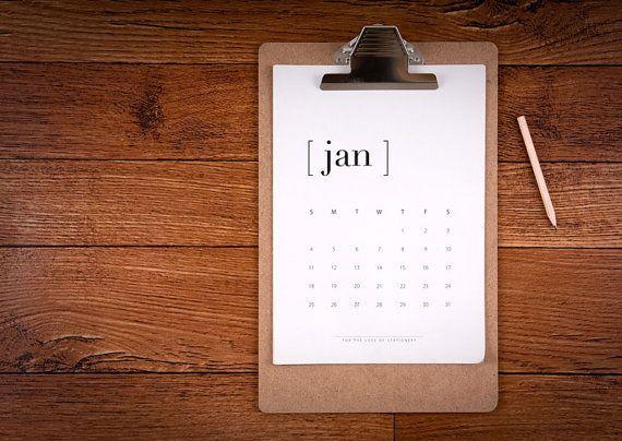 ON SALE DIY Calendar 2015 Printable by 4theLoveofStationery