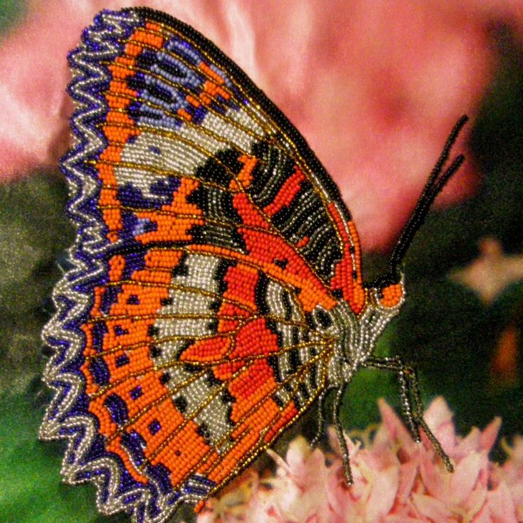 this butterfly is actually made of beads