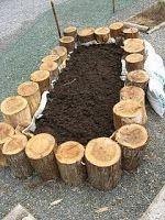 Raised Garden Beds with Logs | Kurashi - News From Japan