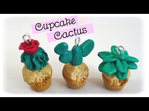 { Tuto } Cupcake cactus en pâte polymère FIMO - YouTube