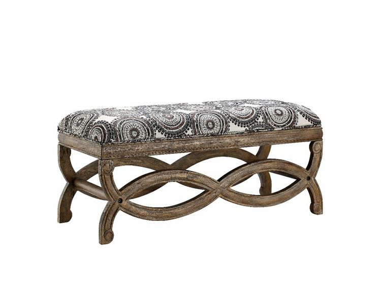 Add A Lovely Touch To Your Entryway Or Living Room Seating Group With This  Chic Bench, Showcasing Medallion Print Upholstery And A Curving Base. Part 41