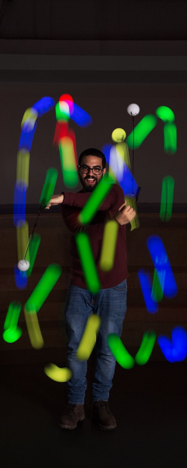 Create light patterns in the air while also exercising your coordination and dexterity with SpinBalls' LED Poi balls, discovered by The Grommet.