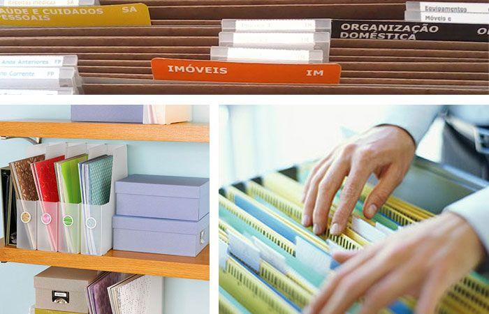 Como organizar documentos e papéis?