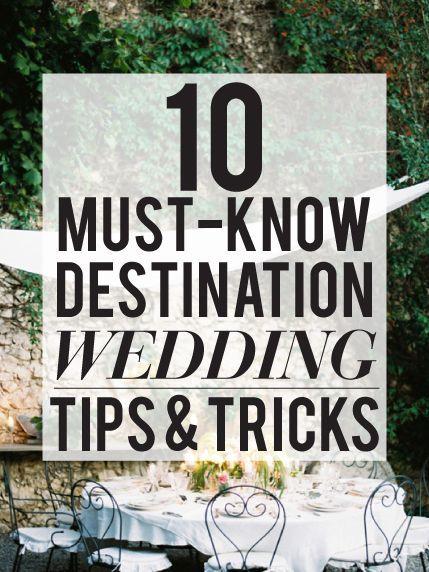 super helpful destination wedding advice