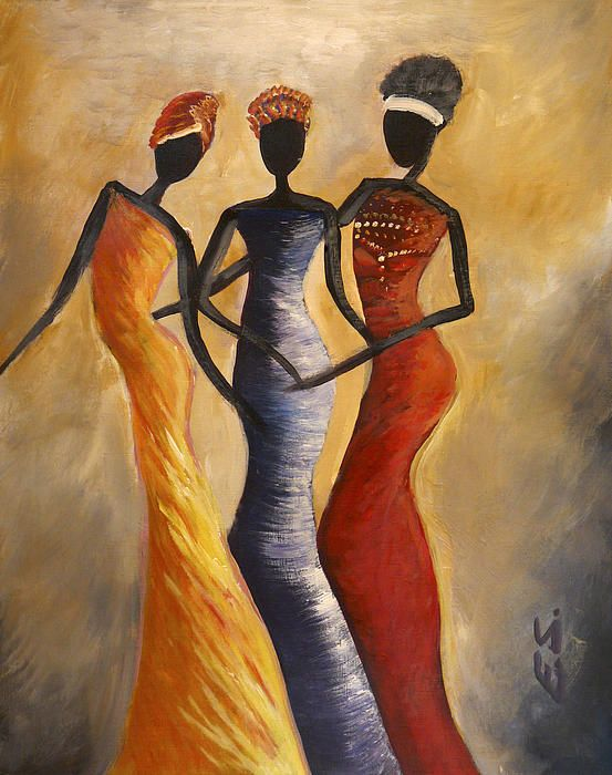 African women acrylic painting