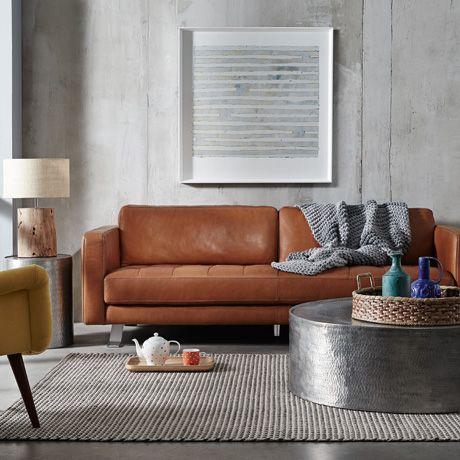 Latitude 3 seat sofa in Caramel Leather was $2899, NOW $1999 #freedomautumnsale