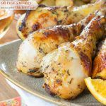 Baked or Grilled Orange Saffron Chicken Legs