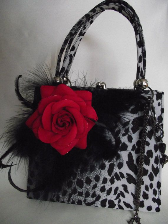 Grey Black with a touch of red Animal Print by IfPiratesWorePurses.