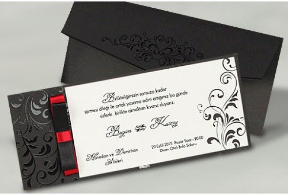 #FairePart #Mariage #Noir-Faire-part Baroque http://www.tour-babel.com/faire-part-mariage/faire-part-noir-blanc-rouge.html
