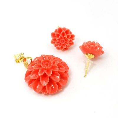 Synthetic Coral Jewelry Sets