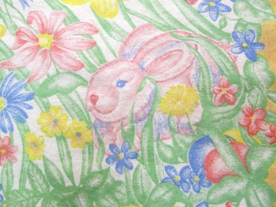This Vintage Easter Tablecloth Is A Pretty Pastel Table Linen To Use This  Spring. Its