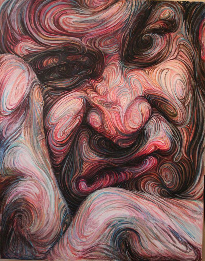 Nikos Gyftakis  mpressionistic self portraits