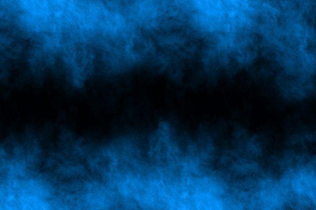 Blue Powder Explosion On Black Background In 2020 Black