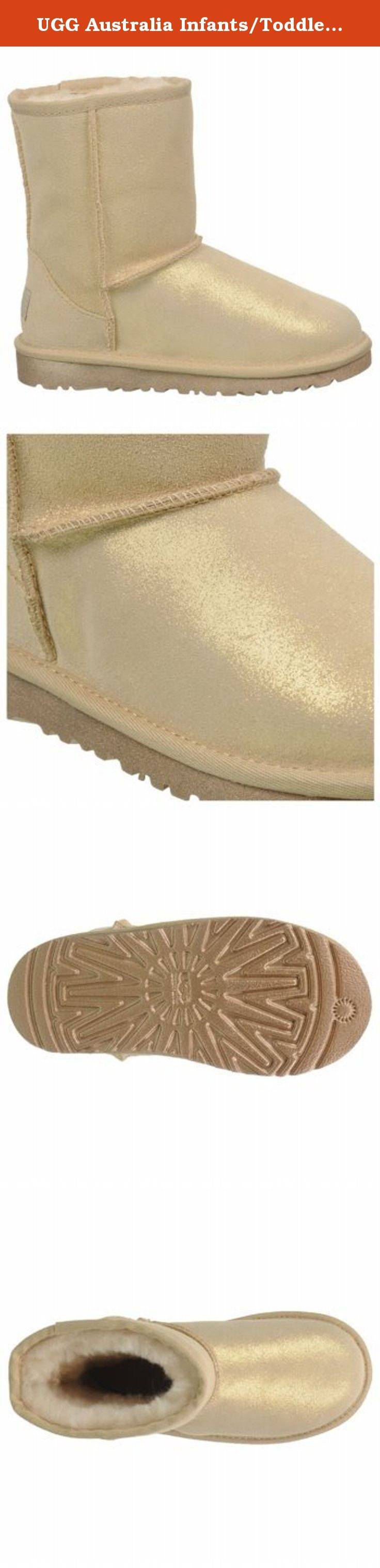 "UGG Australia Infants/Toddlers Classic Glitter Toddler,Gold,US 7 M. For children's sizes 13 to 4 please enter ""Classic Glitter Little Kids"" in the search box above. For children's sizes 5 and 6 please enter ""Classic Glitter Big Kids"" in the search box above. The Classic Glitter pleases with the warmth and comfort of the UGG® Classic Collection. Soft Twinface sheepskin sparkles with an allover glitter application, while its moisture-wicking interior and added foam deliver all-day comfort."