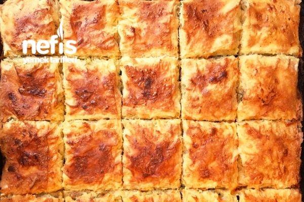 Çıtır Patatesli Peynirli Tepsi Böreği (Pastane Usulü)