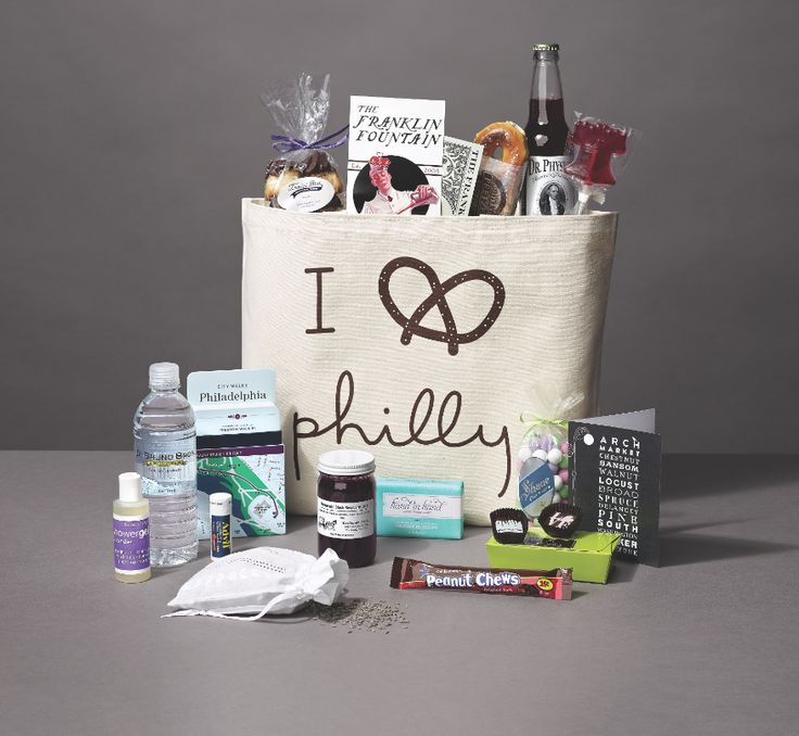 The Best Made-in-Philly Philadelphia Welcome Bags For Out-of-Town Guests. Destination wedding ideas.