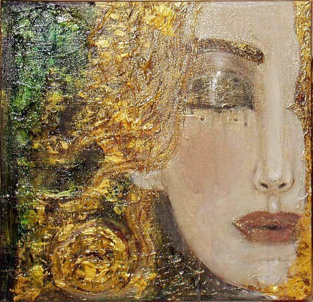 Perhaps it's just ME, but doesn't this have a Gustav Klimt feel to it?! ............ Um olhar dentro de dois // Anne Marie Zilberman