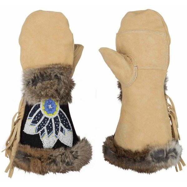 Astis Nansen Mitten ($195) ❤ liked on Polyvore featuring accessories, gloves, fur trimmed leather gloves, waterproof gloves, leather gloves, thermal mittens and leather mittens