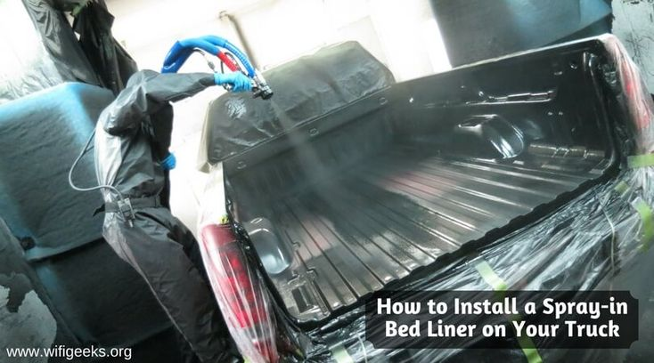 Installation Steps For Spray-In #Bedliner On Your Truck http://www.wifigeeks.org/2017/01/install-spray-in-bed-liner-truck/ In this article, I've described installation steps for #SprayInBedliner on your truck. Just follow this steps and easily install Spray-In #DIYBedliner On Your truck. So, you can save money on Bedliner.