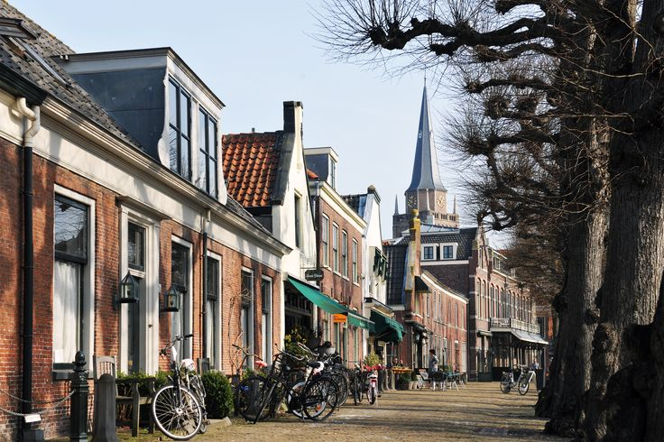 The center of Voorschoten in the Netherlands.