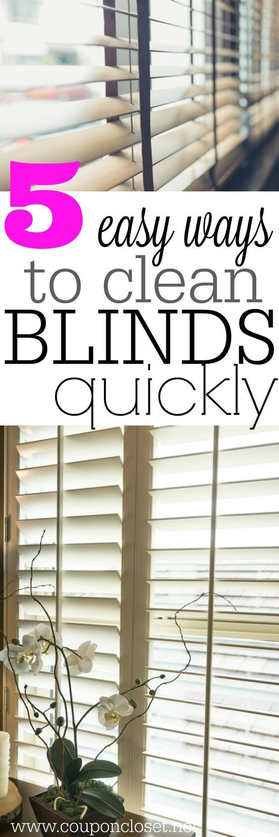 How to clean blinds easily - 5 easy ways to finally get them clean.