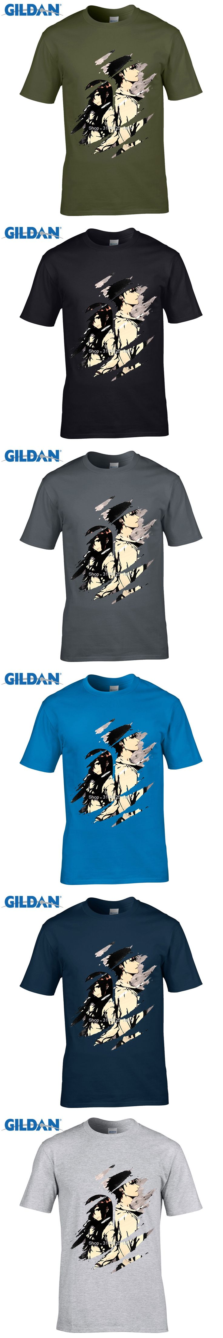 GILDAN customised t-shirts Newest Classic Japanese Anime Steins Gate T Shirt   Cartoon Makise Kurisu Custom T-Shirt
