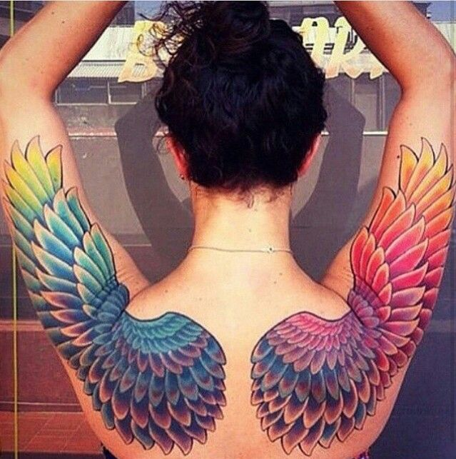 Lgbt+ angel wings