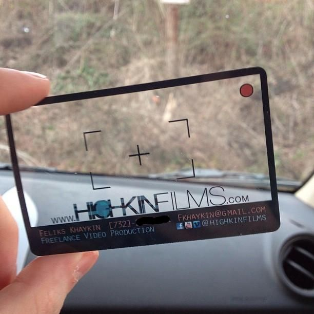 Very cool business card!