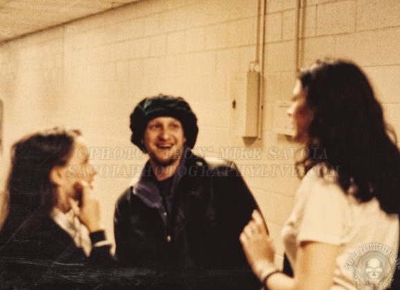 Layne Staley,Demri Parrott and Debbie Murphy backstage at a Pantera show in Mercer Arena,Seattle on 19th July 1994.