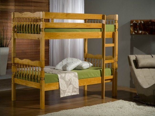 Pine Spindle Bunk Bed - £369.95 - Made from 100% pine with a fully slatted base made up of solid pine slats. Both the upper and lower beds have a head and footend and the bed uses a full length ladder which extends all the way to the floor for added stability This bed gives you the added flexibility of splitting into two seperate single bed frames if you decide you no longer require bunk beds. You can also assemble the bed with the ladder at either end giving you more flexibility.