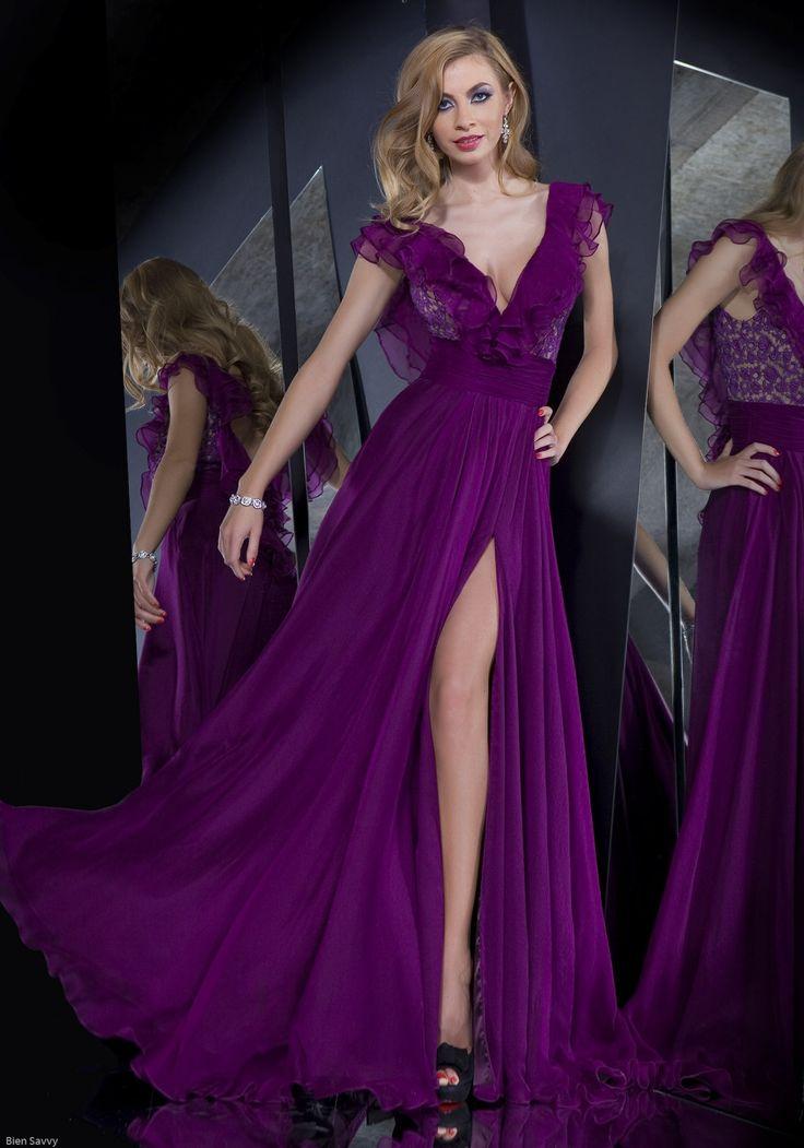 Atractivo Color Ciruela Vestidos De Dama Imágenes - Vestido de Novia ...