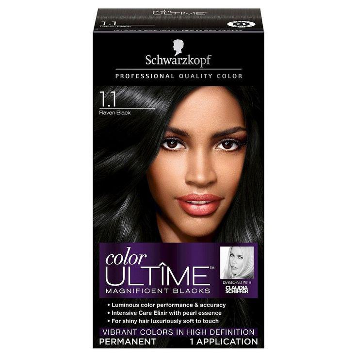 Schwarzkopf Color Ultime Magnificent Blacks Hair Color 1.1 Raven Black - 2.03 oz