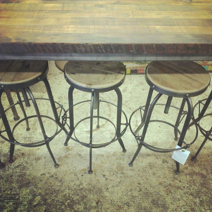 Reproduction Stools ~ #stools #industrial #home #bar #decor *JoJo's Place www.jojosplace.com
