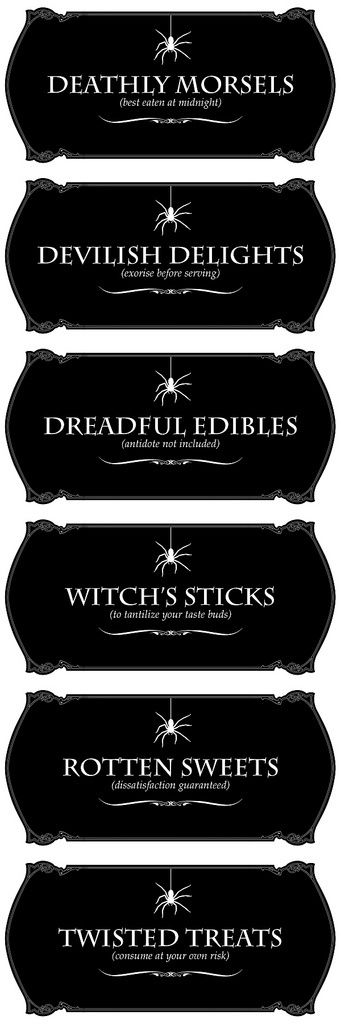 Halloween LABELS for Nature Valley Granola Bars